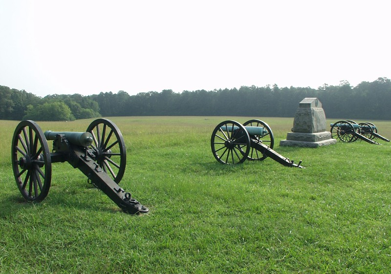 Battery H, 4th US Artillery at Chickamauga, Georgia.
