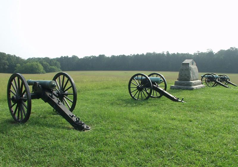 Battery H, 4th US Artillery at Chickamauga, Georgia.