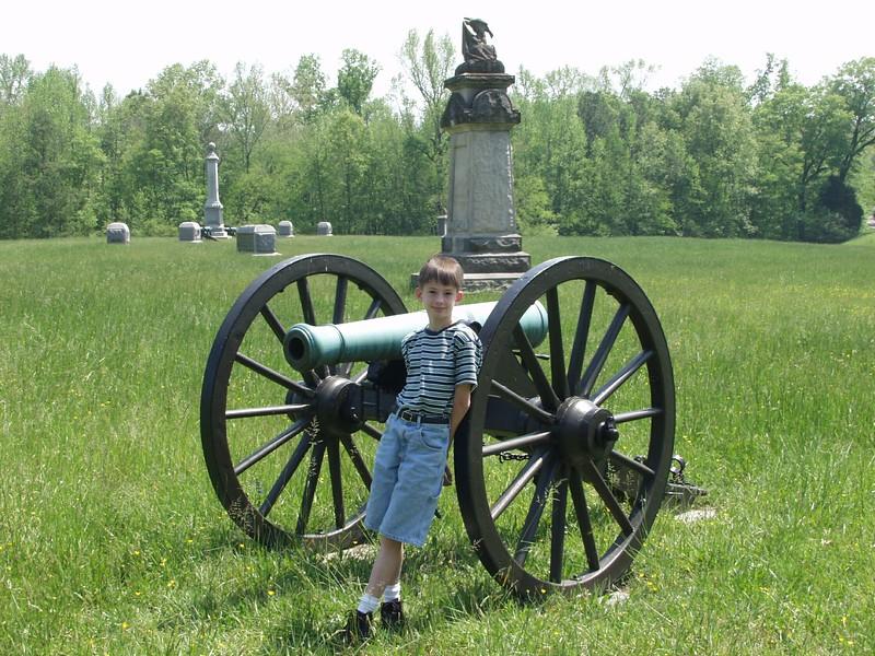 CJ Menard at Viniard Field, Chickamauga and Chattanooga National Military Park, Chickamuaga, GA.