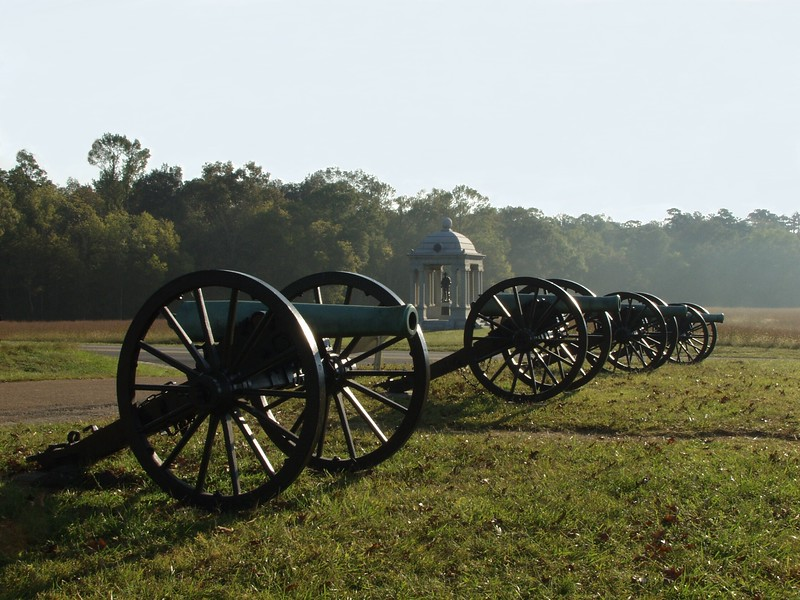 Confederate cannon of Slocumb's Georgia Battery on McDonald's Field - Chickamauga and Chattanooga National Military Park