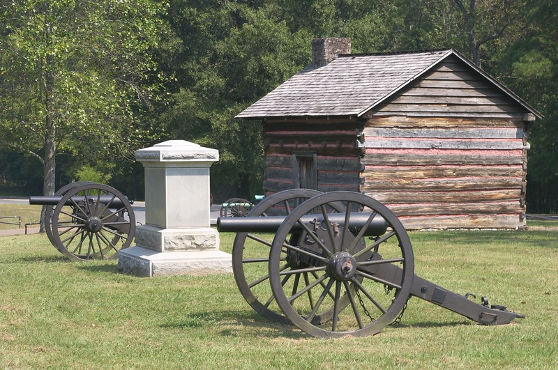 Confederate canon on Brotherton's farm