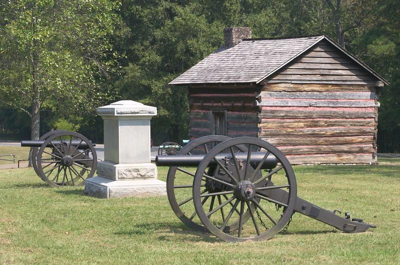 Confederate canon on Brotherton's farm