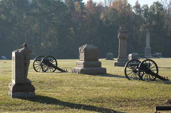 Federal battle line on Viniard's Field - Chickamauga and Chattanooga National Military Park
