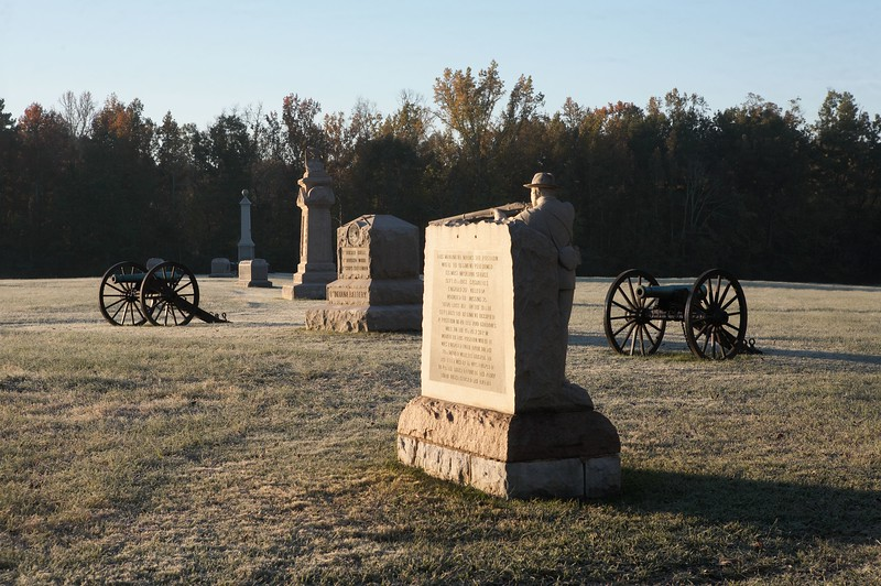 Federal battle line at Viniard's Field, Chickamauga, Georgia.