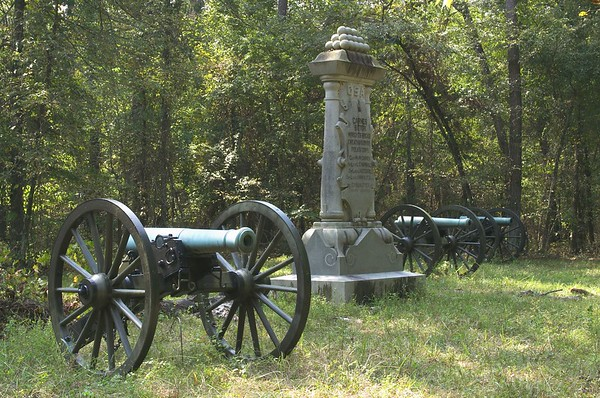 Carnes' Tennessee Battery, Wright's Brigade, Cheatham's Division, Polk's Corps, Army of Tennessee at Chickamauga, Georgia; Loss during battle: 4 Guns, 38 Men and 45 Horses. Chickamauga and Chattanooga National Military Park