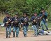 Union soldiers advance. 2011 Civil War Day, Old Cowtown Museum, Wichita, Kansas.