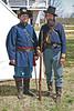 2 Union soldiers at Ft Scott, Kansas Civil War Encampment.