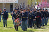 Union troops parade at Ft Scott National Historical Site, Ft Scott, Kansas.