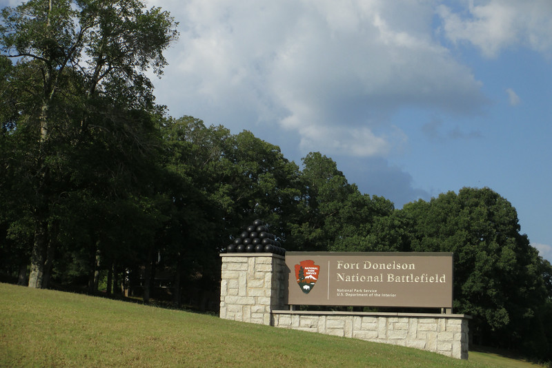Entering Fort Donelson National Battlefield just west of Dover, TN...