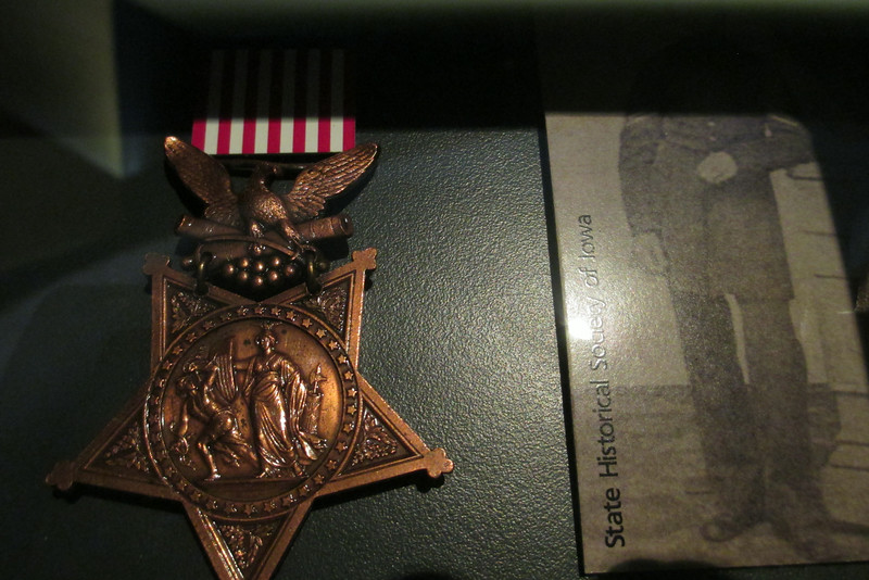 Two Congressional Medal's of Honor were awarded during the Donelson Campaign.  This one, on display at the visitor center was awarded to Corporal Voltaire P. Twombley of the 2nd Iowa who was wounded planting the first Union flag inside the enemy trenches on Feb. 15, 1862...