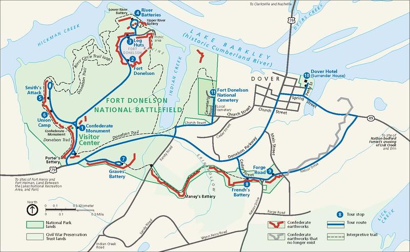Fort Donelson National Battlefield Map
