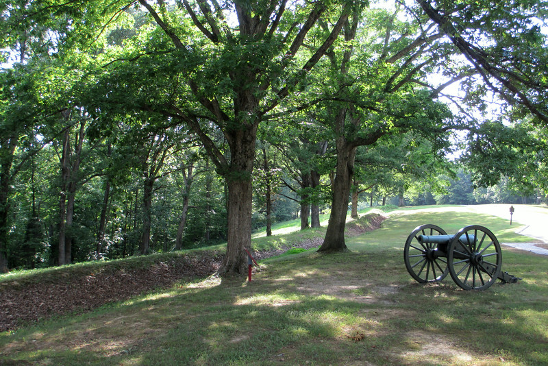 Center of Confederate Outer Defenses - Feb. 13, 1862 - Graves Battery