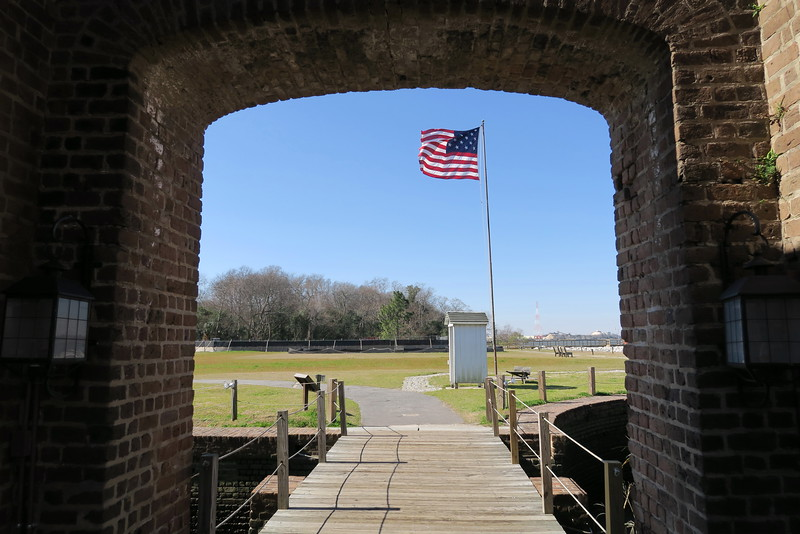 Exiting Fort James Jackson