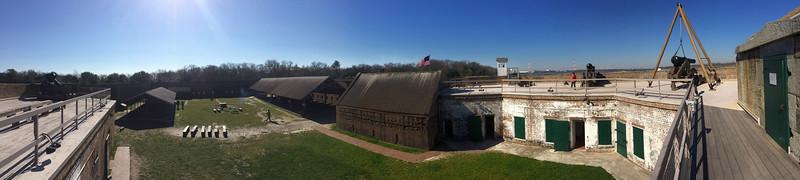 Fort James Jackson - Interior Panorama