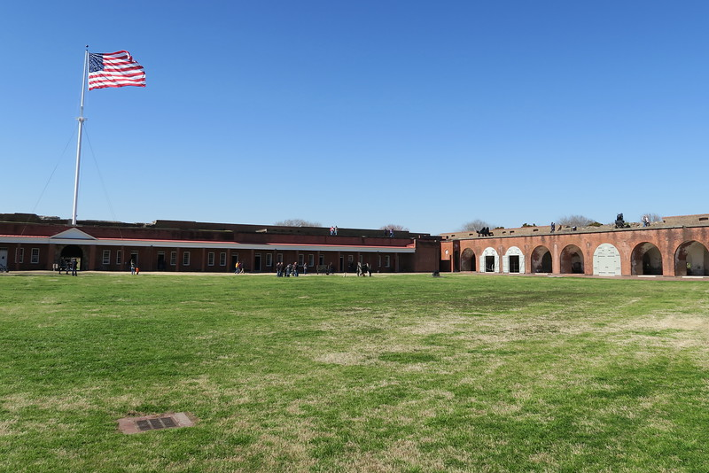 As seen from its eastern point, the parade ground was the location where garrisoned soldiers exercised, drilled, and even played a new game called 'baseball' the parade ground of Fort Pulaski covers a full 2 and-a-half acres...
