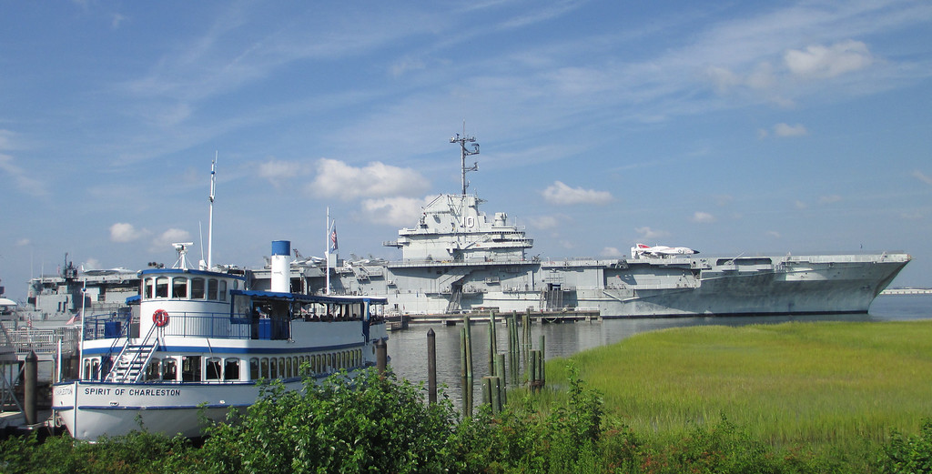 Our ride out to Fort Sumter sits docked at Patriots Point, a naval museum that is a top Charleston attraction in its own right...