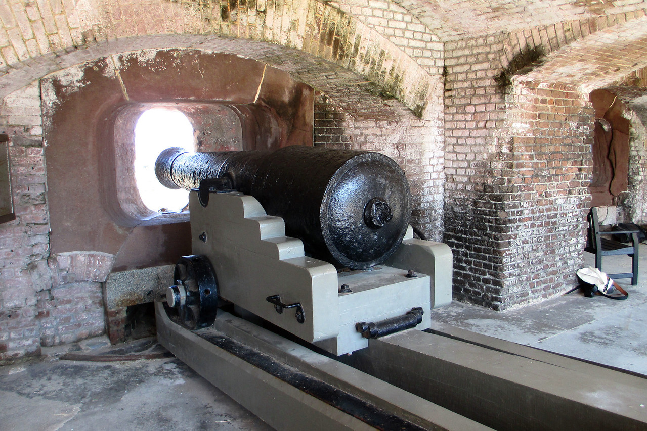 Fort Sumter still houses quite an assortment of cannon, with most gun ports of the Left Flank and Left Face sporting an aged muzzle...