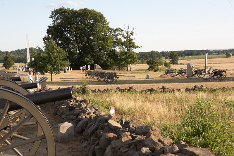 The Angle, a part of the Federal line, the battle of Gettysburg.