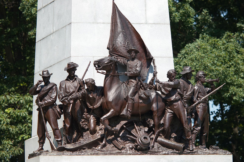 Monument to Virginia troops at Gettysburg, Pennsylvania.