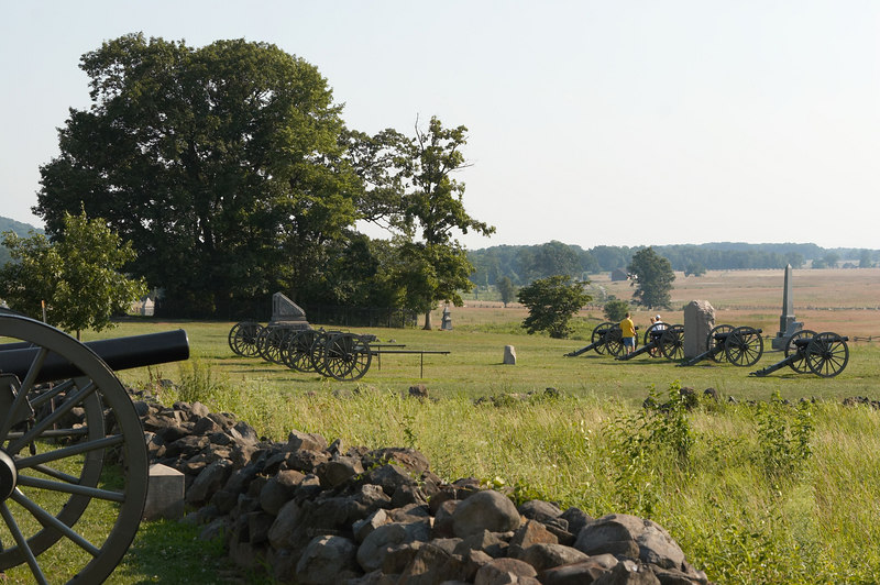 Federal position at The Angle, Battle of Gettysburg, Pennsylvania.
