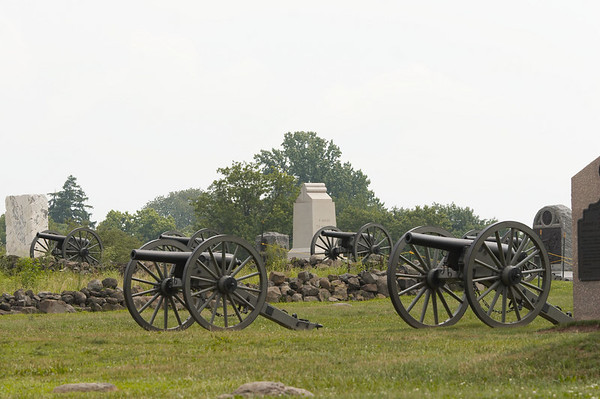 Federal cannon at The Angle, Battle of Gettysburg, Pennsylvania.