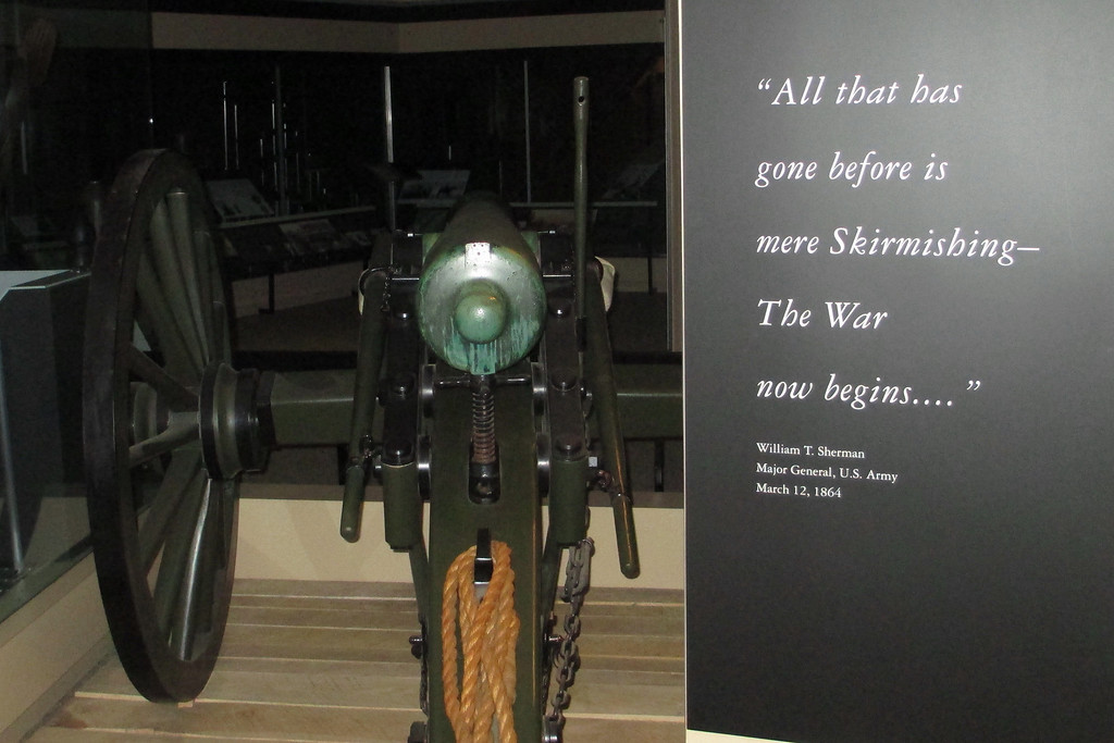 General Sherman's foreboding words greet the visitor upon entering the museum...