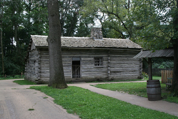 Trent Brothers Residence:  Alexander Trent, his brother, and their families lived in this small cabin.  Alexander was briefly both a tavern owner and ferry operator in the early 1830's.
