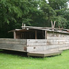 Flatboat: This is a recreation of the flatboats that regularly plied the Sangamon River during Lincoln's time at New Salem.  In fact, it was working on a flatboat not unlike this one that Lincoln first set foot in the area.  This replica is located outside the park along Hwy. 97.