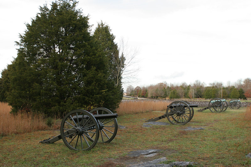 Parson's Battery, 4th US Artillery, at Stones River battlefield, Murfreesboro, Tennessee.