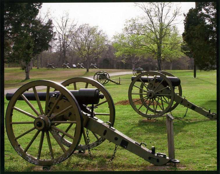 General Grant's Final Line of defense at The Battle of Shiloh, Tennessee.
