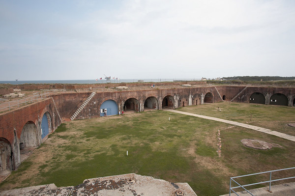 Overview of Fort Morgan, a Confederate fort, guarding the bay of Mobile AL