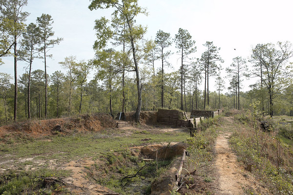 Redoubt #4, Fort Blakely, a Confederate fort, guarding Mobile, Alabama