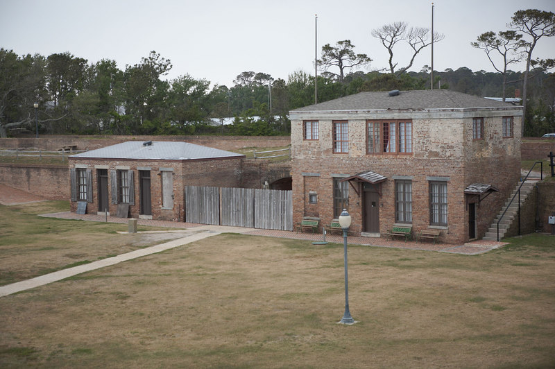 Commandant's office(left) and Guard House(right) of Fort Gaines