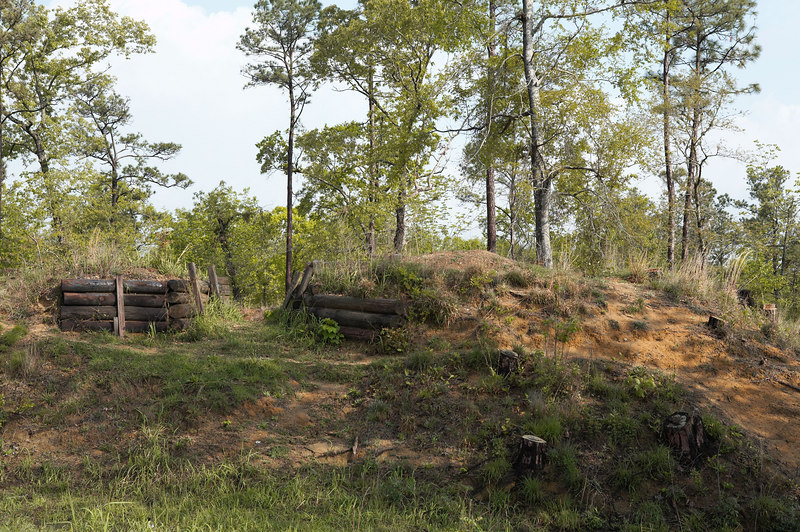 Redoubt #4, Fort Blakely, a Confederate fort, guarding Mobile, AL