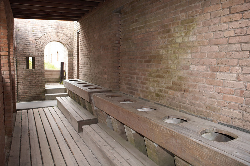A 10-seat toilet for the garrison of Fort Gaines, guarding Mobile bay