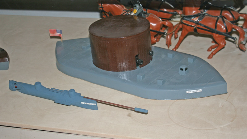 Models of Civil War naval vessels