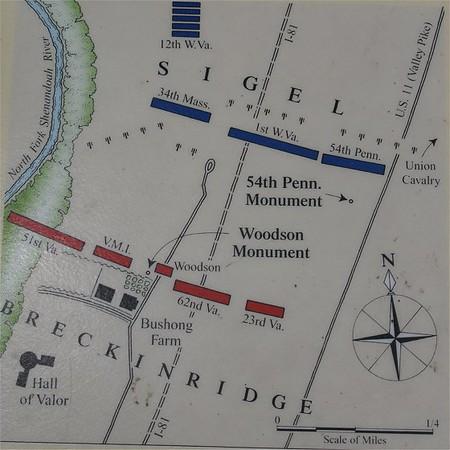 New Market Battlefield Site Map