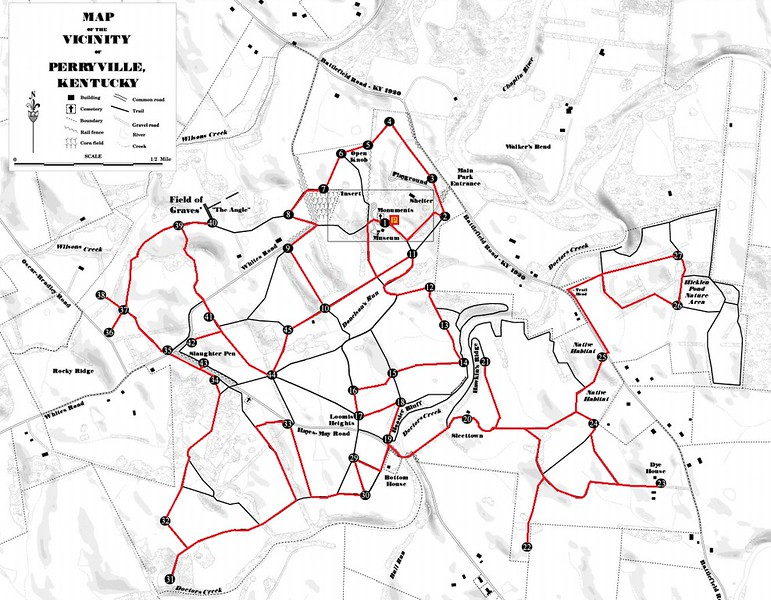 Perryville Battlefield Walking Tour Map
