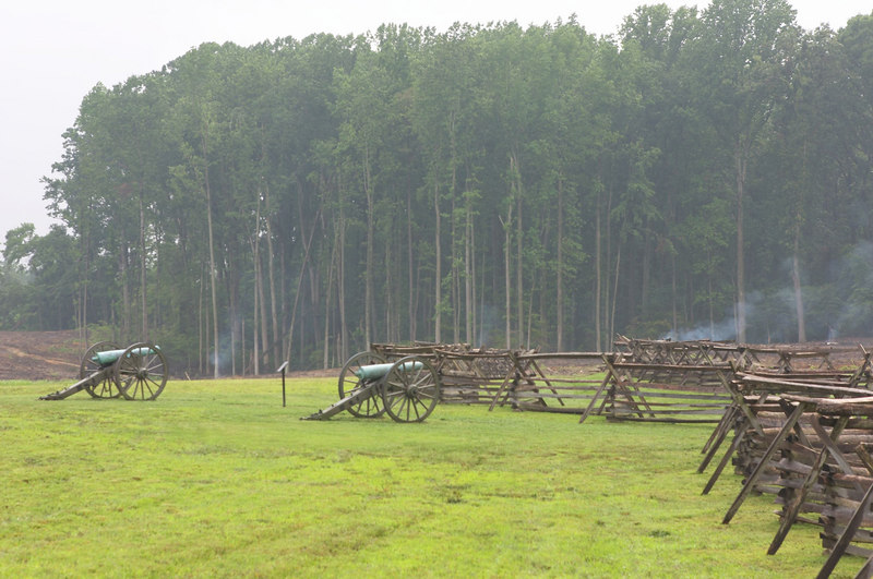 Gaines Mill battlefield near Richmond, Virginia.