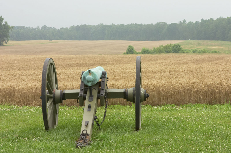 Federal cannon at Malvern Hill battlefield, outside of Richmond, Virginia.