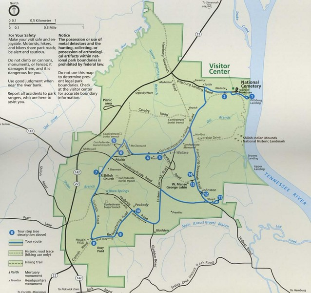 Shiloh National Military Park Map