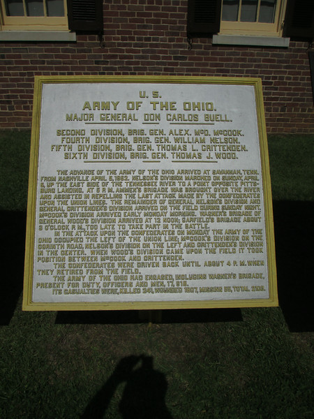 U.S. Army of the Ohio - Major General Don Carlos Buell, Commanding