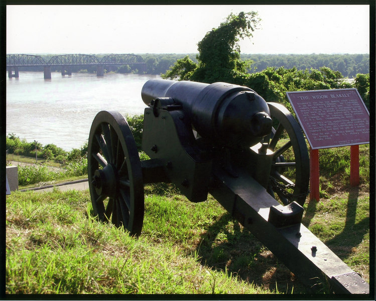 The Widow Blakely, a Confederate gun, guarding the river approach to Vicksburg, Mississippi.
