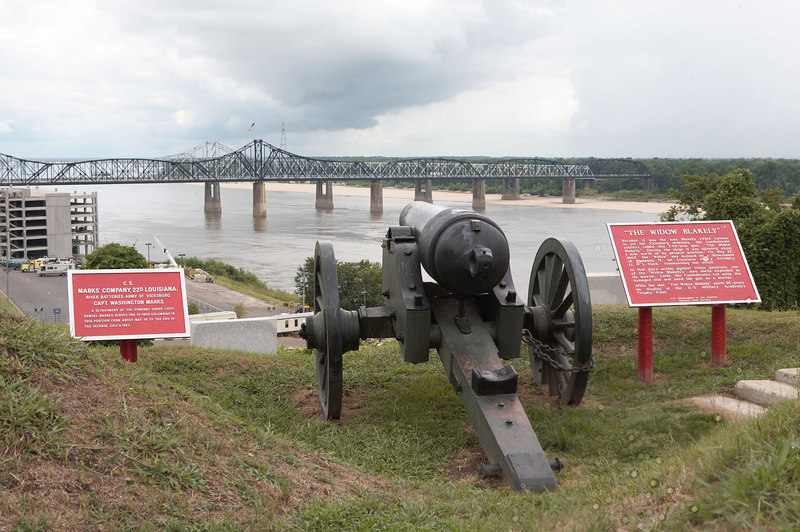A Confederate gun of the river batteries protecting Vicksburg, Mississippi at Vicksburg National Military Park.