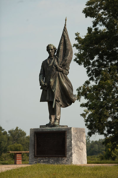 Statue of Confederate President Jefferson Davis at Vicksburg National Military Park.