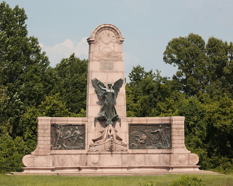 The Missouri Memorial at Vicksburg National Military Park.