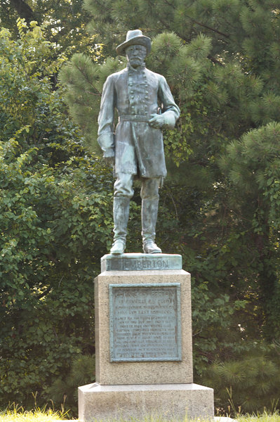 Statue of Lt. General John Pemberton, a native of Pennsylvania, commanding the Army of Vicksburg, CSA, at Vicksburg National Military Park.