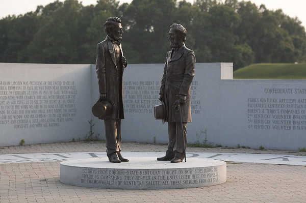 President Lincoln, USA, and President Davis, CSA, at Vicksburg National Military Park.