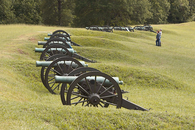 DeGolyer's Battery, 8th Michigan Light Artillery, on the siege-line at Vicksburg National Military Park.