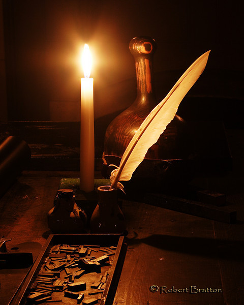 Setting Type by Candlelight